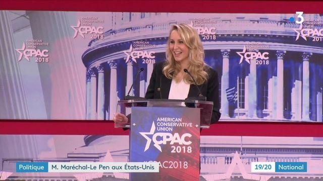 Politique : Marion Maréchal-Le Pen à l'affiche avec les conservateurs américains