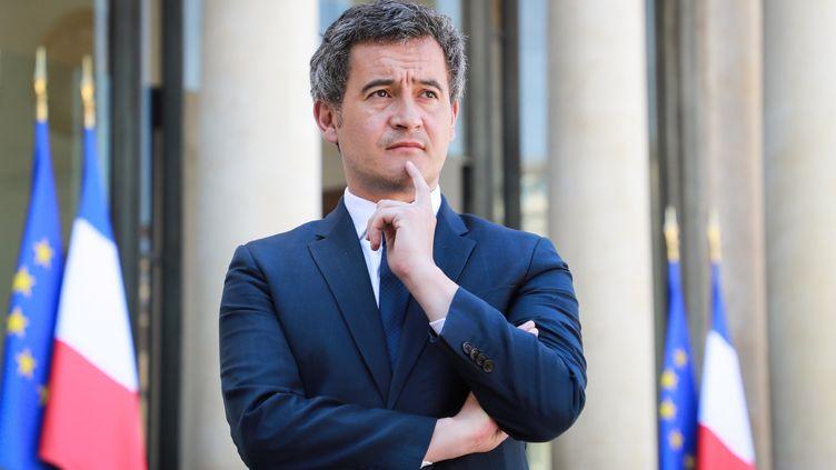 Le ministre de l'Action et des Comptes publicsGérald Darmanin, le 24 avril 2020 à l'Elysée, à Paris. (LUDOVIC MARIN / AFP)