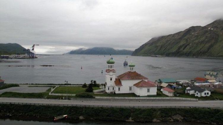 Le port de Dutch Harbor en Alaska en alerte d'un Tsunami le 23 juin 2011 (AFP/JACOB RESNECK)