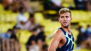 Le décathlonien Kevin Mayer (ici le 9 juillet 2021 à Monaco) fait ses débuts aux Jeux de Tokyo le 4 août 2021. (CLEMENT MAHOUDEAU / AFP)
