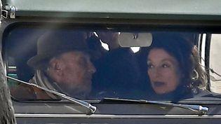 """Anouk Aimée et Jean-Louis Trintignant sur le tournage de la suite de """"Un homme et une femme""""  (PHOTOPQR/LE PARISIEN/MAXPPP)"""