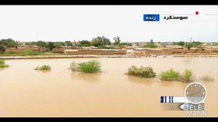 Un village inondé en Iran. (France 2)