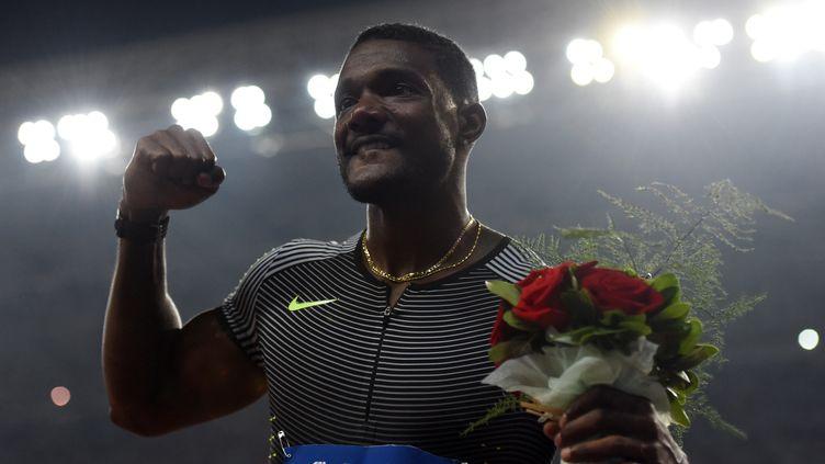 Justin Gatlin victorieux sur le 100m de la Ligue de Diamant à Shanghaï (JOHANNES EISELE / AFP)