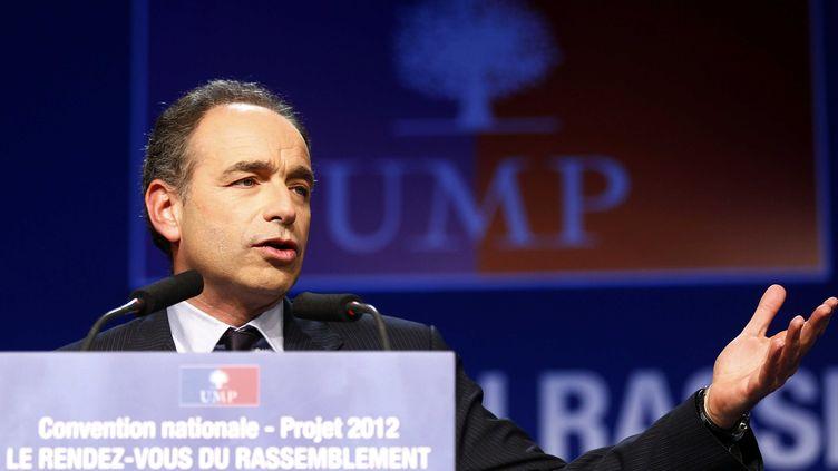 Jean-François Copé lors de la convention sur le projet de l'UMP, le 29 novembre 2011 à Villeurbanne (Rhône). (PASCAL FAYOLLE / SIPA)