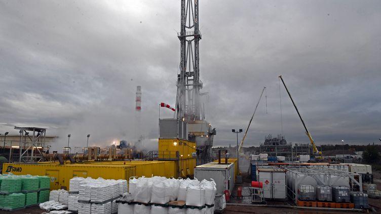 Puits de forage géothermique à Vendenheim (Bas-Rhin). (FRANCK DELHOMME / MAXPPP)