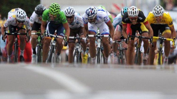 La meute des sprinteurs (PASCAL PAVANI / AFP)