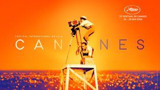 """Affiche officielle du 72e festival de cannes (2019), hommage au film """"La pointe courte"""" d'Agnes Varda (1955) (FLORE MAQUIN / FESTIVAL DE CANNES / FILIFOX)"""