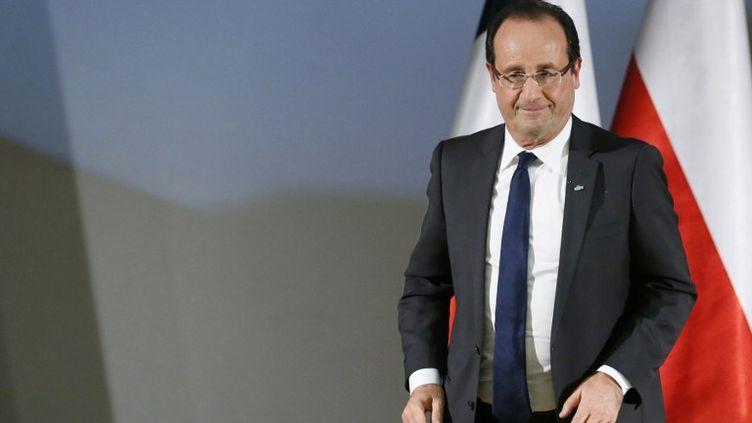 Le président de la République française, François Hollande, à Varsovie (Pologne), le 16 novembre 2012. (PATRICK KOVARIK / AFP)