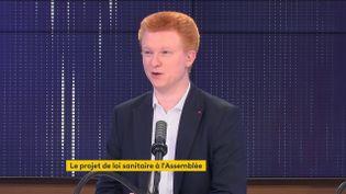 Adrien Quatennens, député La France insoumise du Nord, était l'invité de franceinfo le 20 juillet 2021. (FRANCEINFO / RADIOFRANCE)