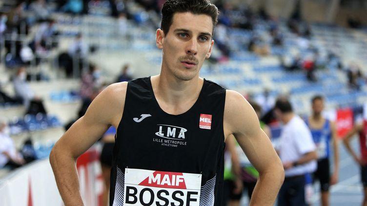 Pierre-Ambroise Bosse lors des Championnats de France indoor en février 2021. (LAURENT LAIRYS / LAURENT LAIRYS)