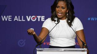 Michelle Obama lors d'une conférence à Las Vegas, le 23 septembre 2018. (GETTY IMAGES NORTH AMERICA / AFP)