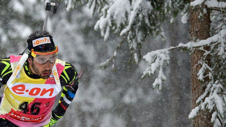 Martin Fourcade 5e du sprint d'Antholz (ALBERTO PIZZOLI / AFP)