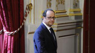 Le président de la République, François Hollande, après une déclaration à la presse, le 17 septembre 2014, à l'Elysée. ( WITT / SIPA)