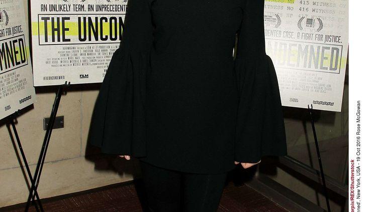 """L'actrice américaine Rose McGowan à la première du film """"The Uncondemned"""", le 19 octobre 2016, à New York. (ALLOCCA / STARPIX / SHUTTER/ SIPA / REX)"""