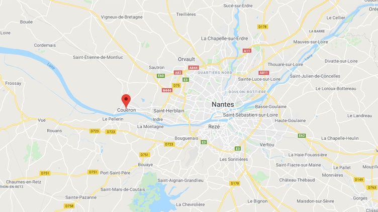 Le Couëron (Loire-Atlantique). (CAPTURE D'ECRAN GOOGLE MAPS)