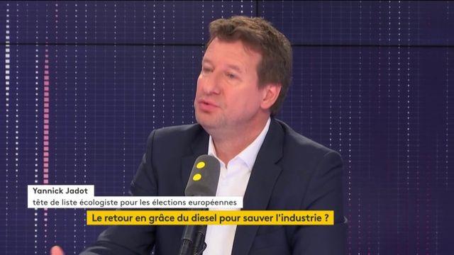 Yannick Jadot, tête de liste EELV aux européennes, invité de franceinfo le 8 février 2019.