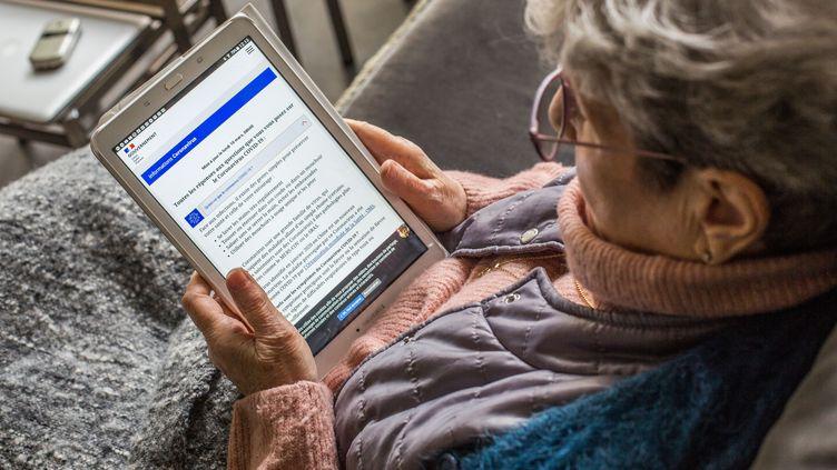 Le site, référencé par le ministère de la Santé, permet àl'utilisateurde faire une évaluationanonyme et gratuite de son état de santé. (BURGER / PHANIE / AFP)
