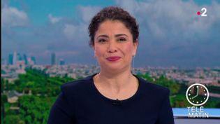 Nabila Tabouri présente le JT de 8h le mardi 10 avril 2018. (FRANCE 2)