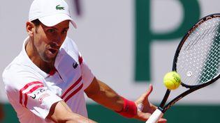 Novak Djokovic lors de la finale de Roland-Garros 2021. (GAO JING / XINHUA)