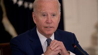 Le président américain Joe Biden à Washington (Etats-Unis), le 5 août 2021. (WIN MCNAMEE / GETTY IMAGES NORTH AMERICA / AFP)