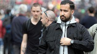 Alexandre Benalla lors d'une manifestation à Paris, le 1er mai 2018. (MAXPPP)