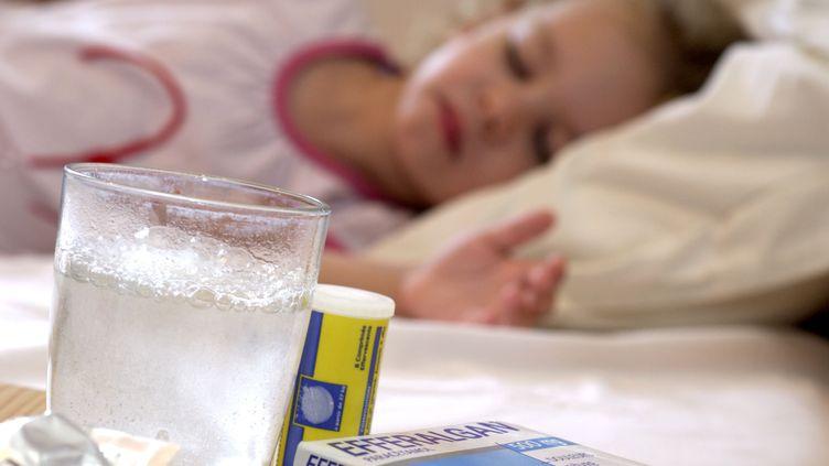 Une enfant malade du chikungunya sur l'Ile de la Réunion en octobre 2013. (  MAXPPP)