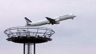 Un avion d'Air France au décollage de l'aéroport d'Orly, le 11 avril 2006. (JOEL SAGET / AFP)