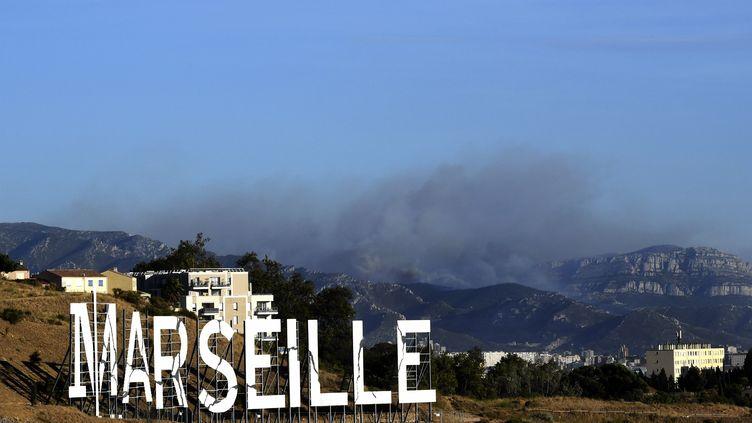 Incendie dans leMassif des Calanques à Marseille le 5 septembre 2016 (BORIS HORVAT / AFP)