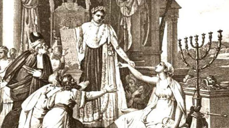 Napoléon rétablit le culte des israélites 30 mai 1806 (Archives nationales) (Archives nationales)