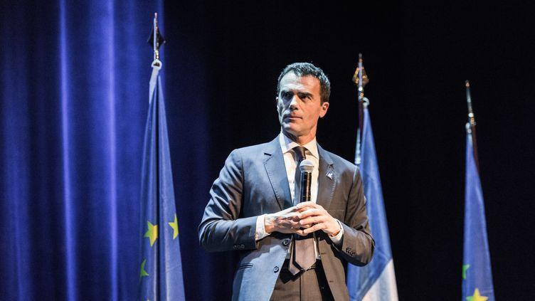 L'ancien secrétaire d'État italien devenu conseiller d'Édouard Philippe, lors d'une prise de parole, à Paris, le 6 mai 2019. (KARINE PIERRE / HANS LUCAS / AFP)