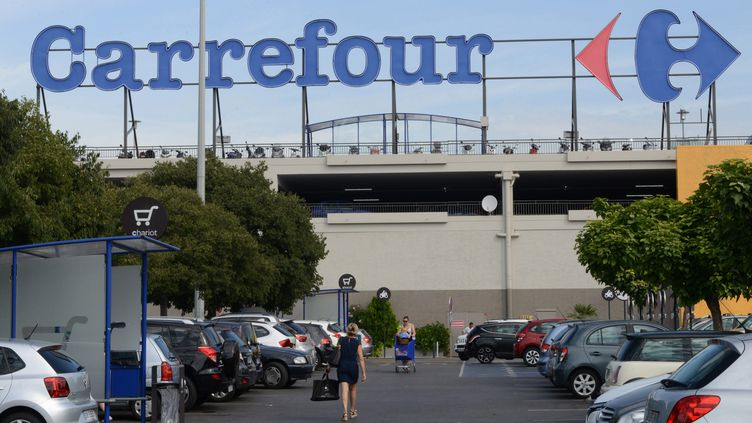 L'hypermarché Carrefour d'Antibes, dans les Alpes-Maritimes, en août 2015 (photo d'illustration) (JEAN-PIERRE AMET / MAXPPP)