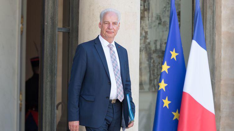 Le ministre délégué aux Petites et moyennes entreprises Alain Griset à la sortie du Conseil des ministres à l'Elysée, le 7 juillet 2020. (JACQUES WITT / SIPA)