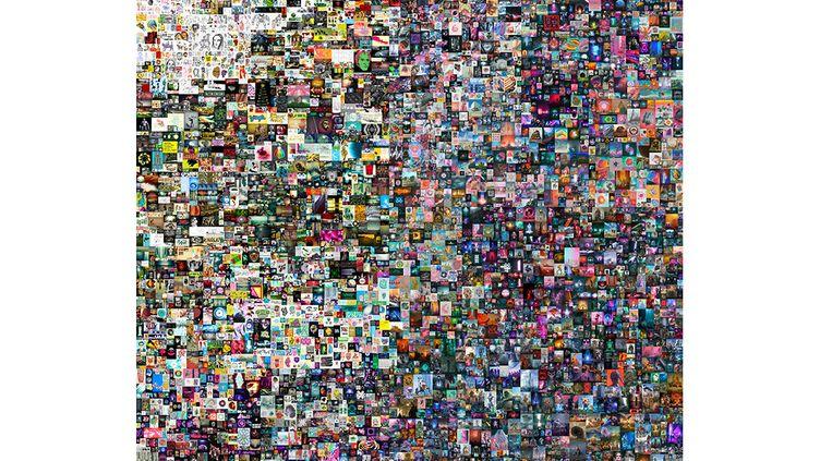 Everyday : the First 5.000 days, oeuvre de l'artiste Beeple a été adjugé 69,3 millions de dollars le 11 mars 2021 chez Christie's. (AFP)