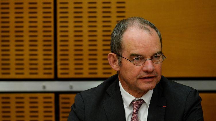 Patrick Jeantet, président de Keolis, le 24 mai 2016. (ERIC PIERMONT / AFP)