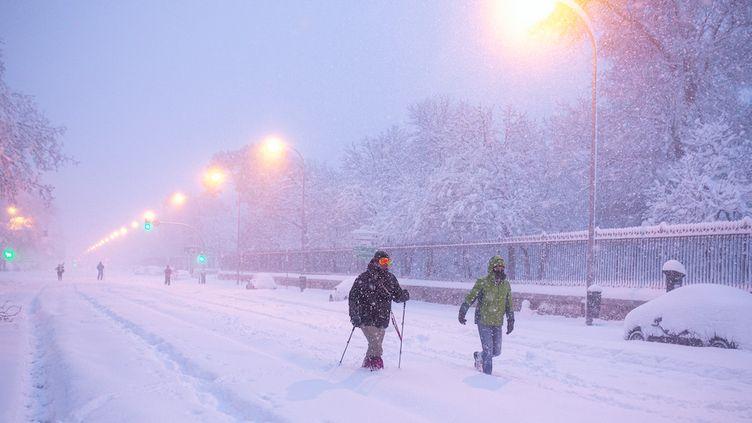 La tempête Filomena provoque des chutes de neige historiques — Espagne