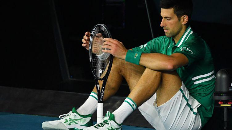 Novak Djokovic le 16 février dernier à Melbourne, lors de l'Open d'Australie (PAUL CROCK / AFP)