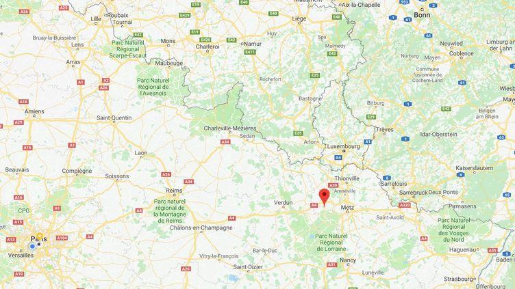 Capture d'écran de Google Maps situant la ville de Jarny (Meurthe-et-Moselle). (GOOGLE MAPS)