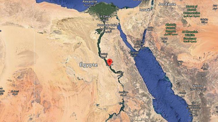 L'accident s'est déroulé dans le gouvernorat deSohag, dans le sud de l'Egypte. (GOOGLE MAPS)