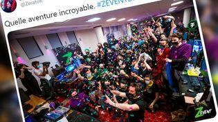 Z Event, le rendez-vous caritatif annuel des plus grandes stars du jeu vidéo en France. (COPIE D'ECRAN TWITTER)