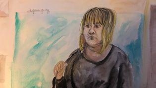 Cécile Bourgeon, la mère de la petite Fiona, lors du procès de cette affaire à la Cour d'assises du Puy-de-Dôme, le 15 novembre 2016. (ELISABETH DE POURQUERY / FRANCEINFO)