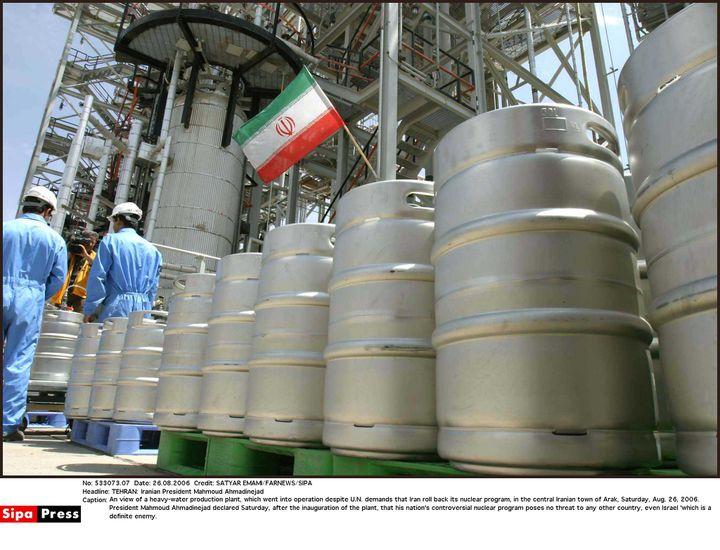 Le site nucléaire à eau lourde d'Arak (Iran), le 26 août 2006. (FARNEWS / EMAMI / SIPA)