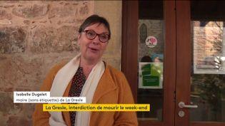 Isabelle Dugelet, maire de La Gresle (Loire) (FRANCEINFO)