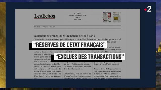 Faux et usage de faux : non, la Banque de France n'a pas été pillée par JP Morgan