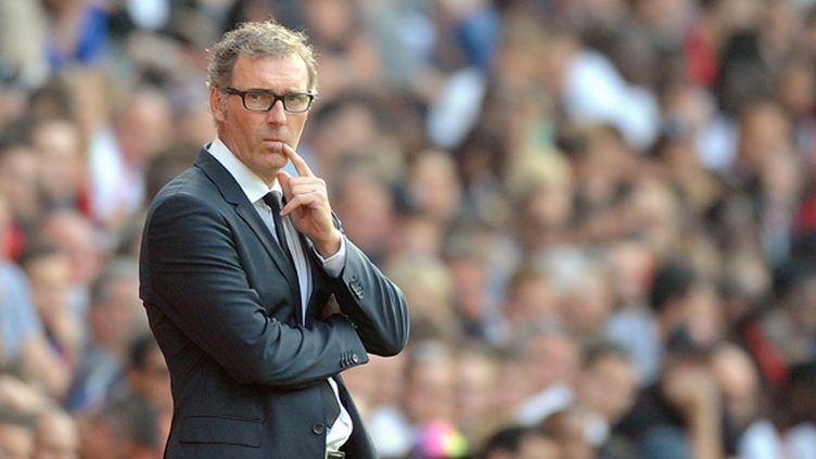 Laurent Blanc a déjà gagné deux fois la Coupe de la Ligue en tant qu'entraîneur : en 2009 avec Bordeaux, et l'an passé avec le PSG.  (JEAN-SEBASTIEN EVRARD / AFP)