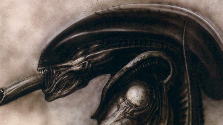 """""""Alien"""", l'extra-terrestre terrifiant dessiné par H.R.Giger pour le film culte de Ridley Scott sorti en 1979.  (H.R.Giger)"""