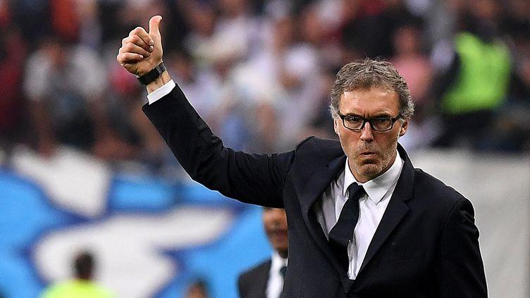 L'ancien entraîneur du PSG Laurent Blanc, le 21 mai 2016 au Stade de France à Saint-Denis (Seine-Saint-Denis). (FRANCK FIFE / AFP)