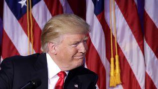 Le président des Etats-Unis, Donald Trump, le jour de son élection, à New York, le 8 novembre 2016. (MAXPPP)