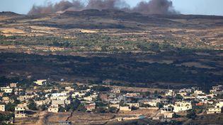 Le village druze de Hadar, contrôlé par le régime de Bachar Al-Assad et situé du côté syrien du plateau du Golan, le 20 juin 2015. (JALAA MAREY / AFP)