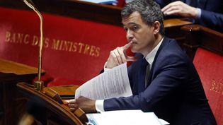 Le ministre de l'Action et des Comptes publics, Gérald Darmanin, le 17 avril 2020 à l'Assemblée nationale. (THOMAS COEX / POOL)
