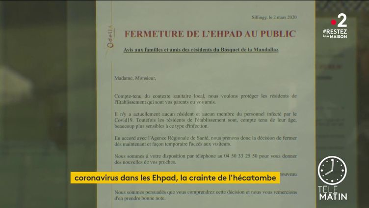 16 personnes sont décédées dans un Ehpad parisien, tandis que sept autres ont succombé dans un établissement de Haute-Savoie. (FRANCE 2)